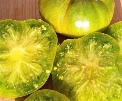 Aunt Ruby´s German Green, grüne Fleischtomate