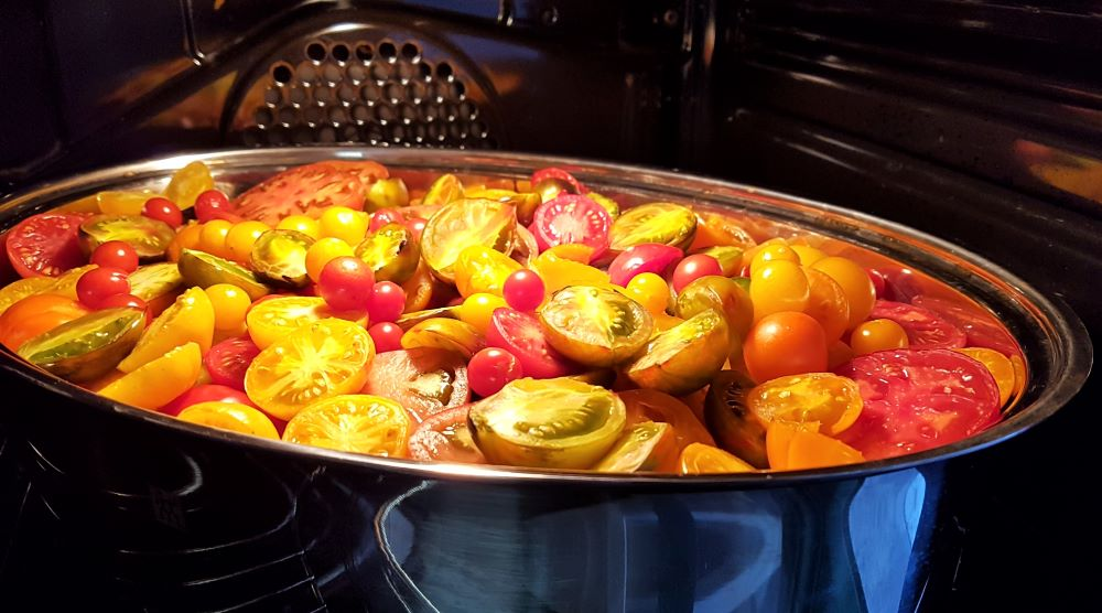 Tomaten Rezept, Tomaten verarbeiten, Tomaten im Bräter,
