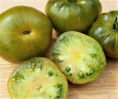 Green Moldavan Fruchtfleisch, grüne Fleischtomate, samenfest