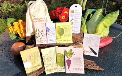 Ein Saatgutset – voller Wunder und rosa Grüße