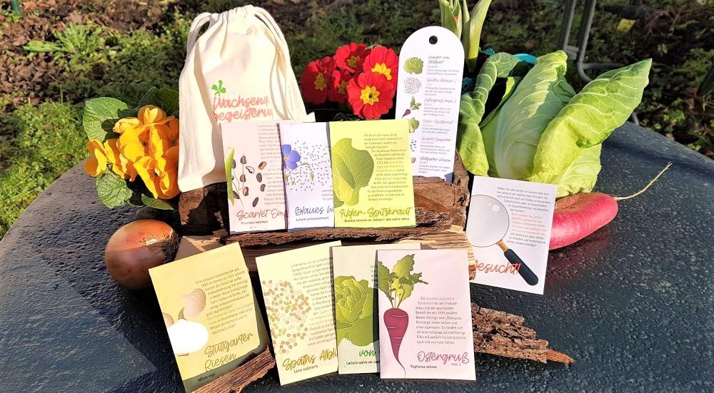 """Saatgutset """"Wachsende Begeisterung"""" 7 Alte Gemüsesorten Samenset"""